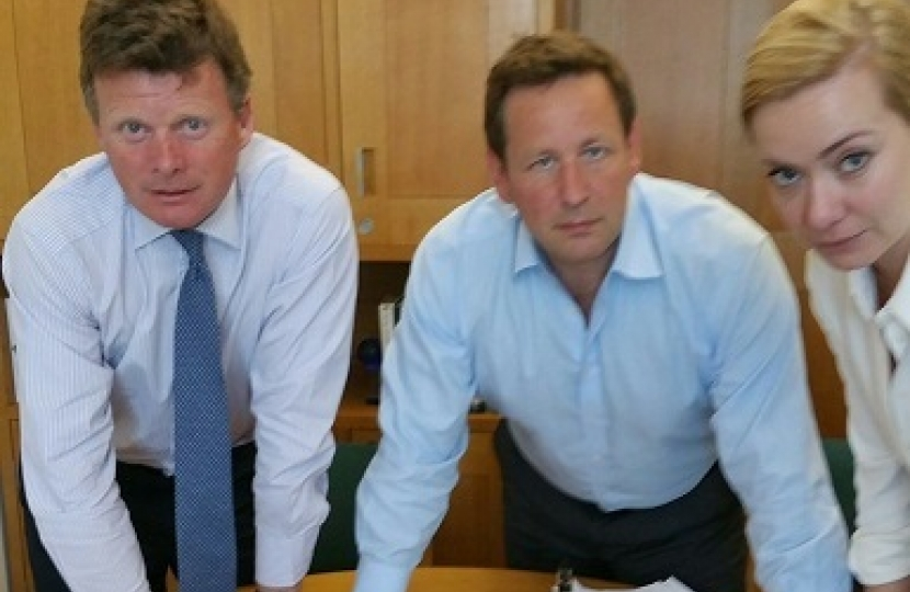 Richard Benyon MP, Ed Vaizey MP and Nicola Blackwood MP