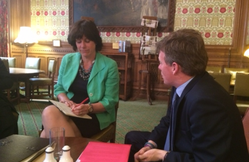 Rail Minister, Claire Perry and Richard Benyon MP